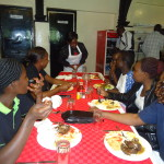 staff enjoying a meal at westlands campus