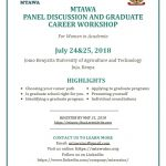 MTAWA PANEL DISCUSSION AND GRADUATE CAREER WORKSHOP
