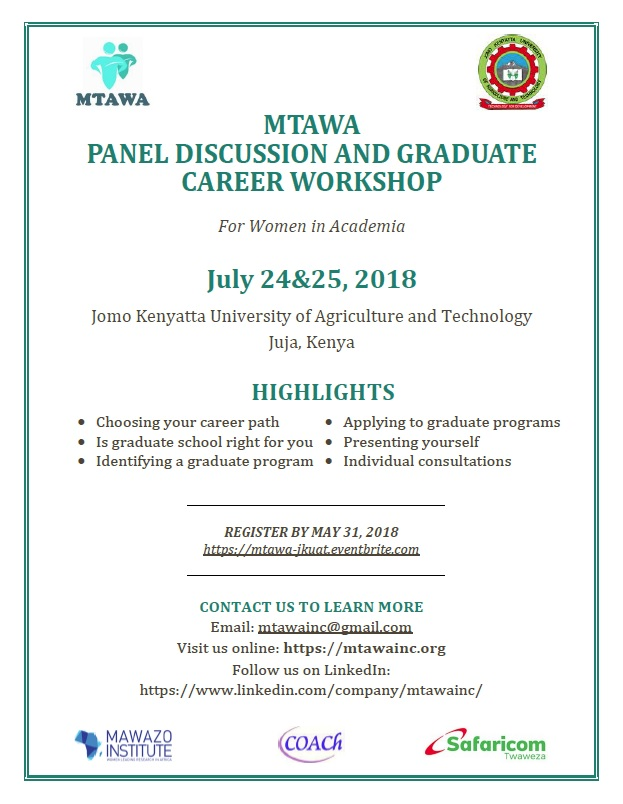 MTAWA PANEL DISCUSSION AND GRADUATE CAREER WORKSHOP - Gender and