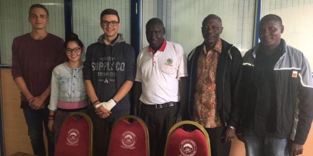 An entourage from Germany visits Kisii CBD and the Director, Prof. J.K. Sigei. Besides the Director to his left are our students.