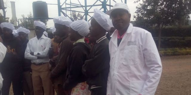 Humphrey Wairegi (the Administrator), on an academic trip to a tea factory within Nyamira county.