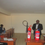 Kitale Campus Staff get trained on Fire fighting Skills