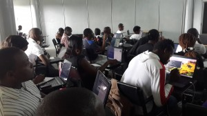 Students Coding in Python