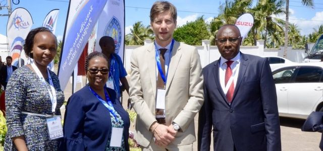The VC JKUAT prof. Victoria Ngumi, H.E Ambassador Nicolas Nihon, Ambassador Belgium and Director JKUAT Mombasa Dr. Frida Simba During the IAME conference 2018,JKUAT was one of the local organizing partners.