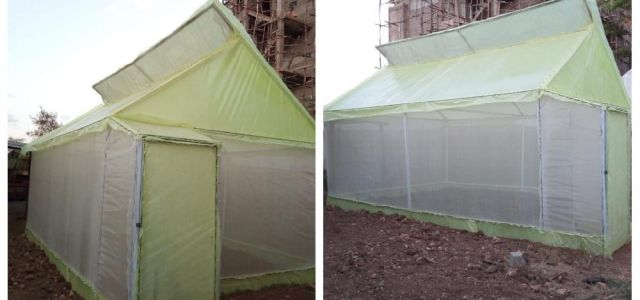Low cost greenhouse for sustainable vegetable production constructed at the department
