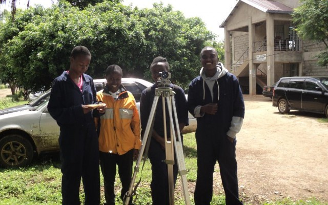 GEGIS Students undertaking Field Practical Sessions