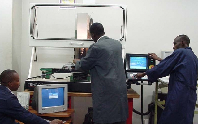 The CNC Milling Machine is one of the many training facilities available in the Department