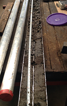 Typical core samples from reservoir sedimentation