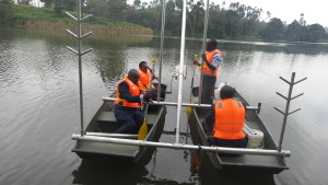 Session during a demonstration of how the Bathymetric survey equipment works