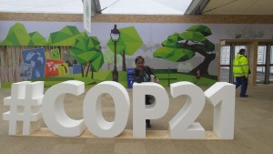 Bancy at COP21 in Paris 1st Dec 2015