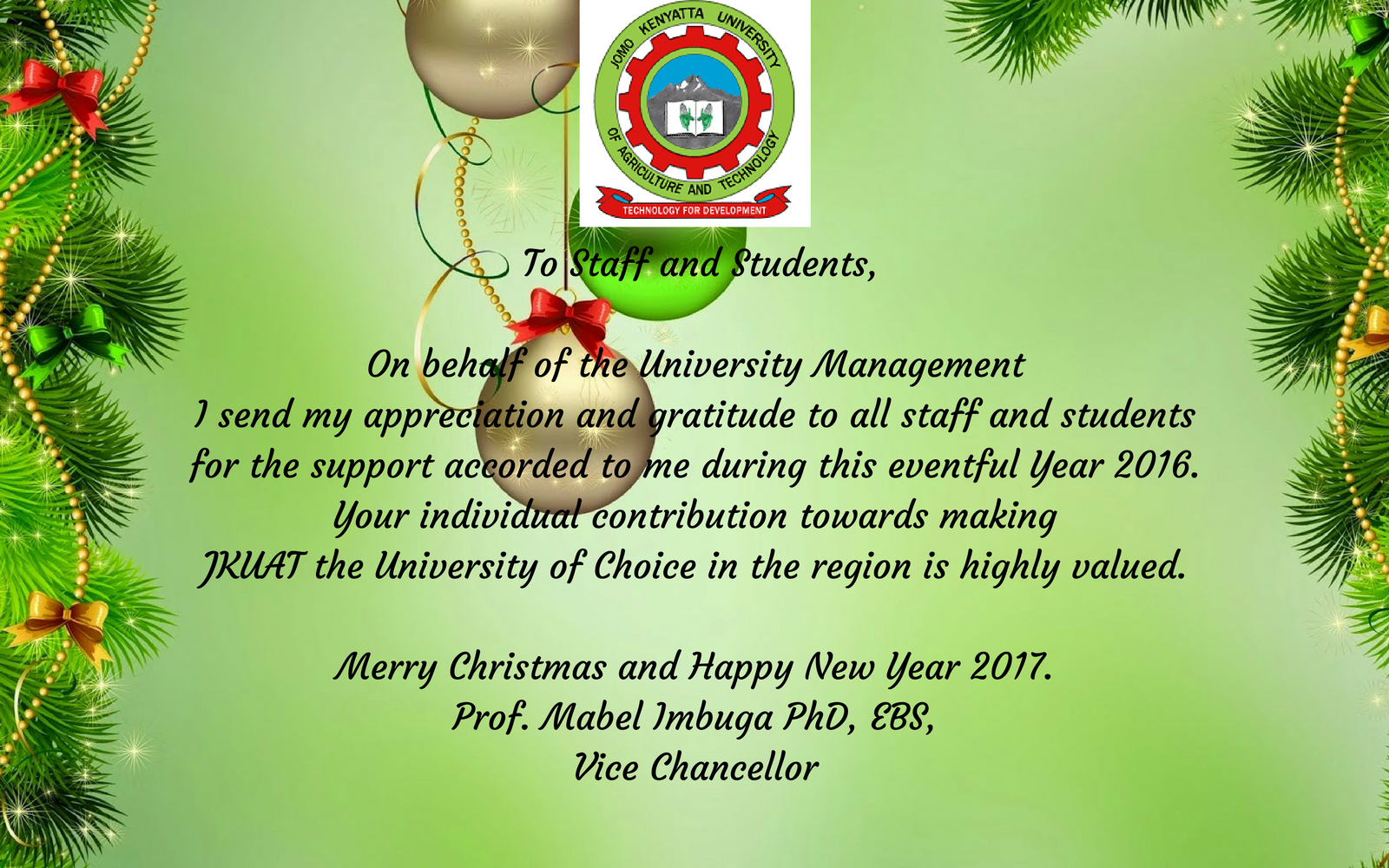 Holiday greetings dipca thank you for supporting dipca viewdownload e card from vice chancellor kristyandbryce Gallery