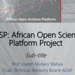 Presentation on African Open Platform Project in Ghana