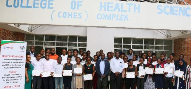 Sixth year medicine students after a week-long induction on health informatics, data analytics and GIS in healthcare