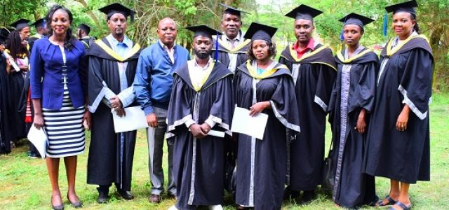 BSc. in Comprehensive Ophthalmology and Cataract Surgery graduands during rehearsals for the 33rd graduation ceremony.