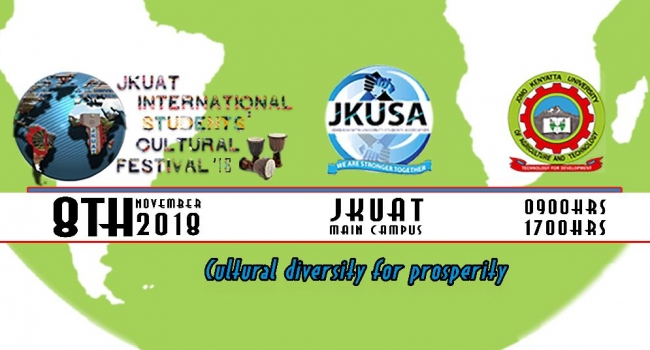 JKUAT International Students' Cultural Festival Happening on the 8th of November 2018. Check our Twitter account for more details on how to be part of the the programme and updates everyday.
