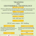 INTERNATIONAL FORUM ON GEOTHERMAL TECHNOLOGY, HELD IN JKUAT- 13th TO 16th SEPTEMBER 2017