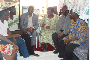 Memories of student life, the chancellor Prof. Gichaga (3rd left) with VC Prof. Imbuga and DVC's P