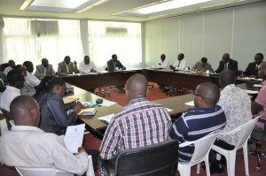 Participants during the launch of the aluminium fabrications course
