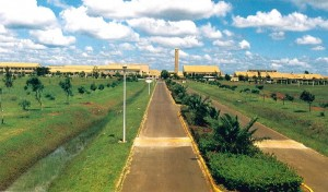 Jomo Kenyatta College of Agriculture and Technology view from the gate, 1981