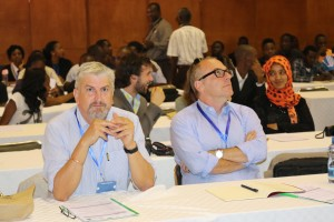 Participants interact with each other during the Symposium