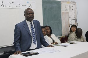 Prof. Odhiambo making his remarks during the closing ceremony