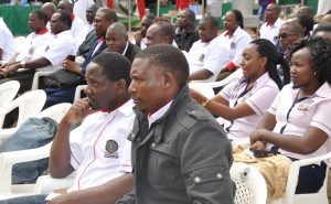 A section of the exhibitors follow proceedings during the opening session