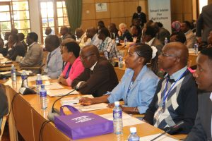 A cross section of the stakeholders following proceedings during the launch