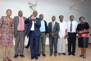 Prof Robert Kinyua and his team from the Institute of Energy and Environmental Technology bask in glory for bagging the most Impact research award